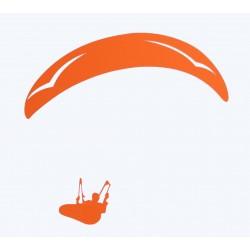 Naklejka PG duża pomarańczowa