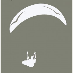 Naklejka PG duża biała
